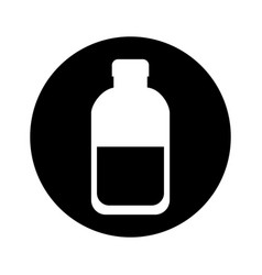Bottle milk isolated icon vector