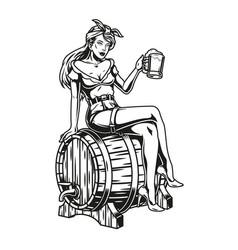 brewing vintage monochrome concept vector image