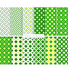 Bright and simple green and yellow squares pattern vector image