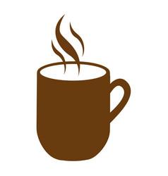 Brown mug coffee with smoke vector