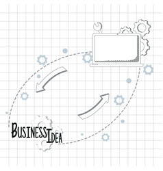business idea concept vector image