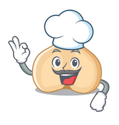 Chef chickpeas character cartoon style vector