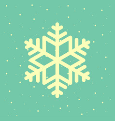 christmas snowflake postcard background vector image