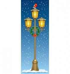 Christmas street lantern vector image