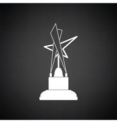 Cinema award icon vector image