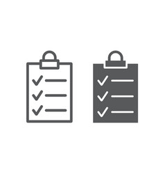 clipboard line and glyph icon office vector image
