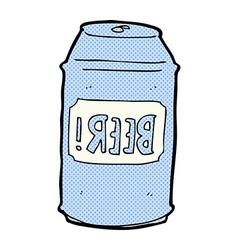 comic cartoon beer can vector image