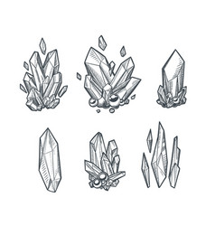 Crystals draing vector