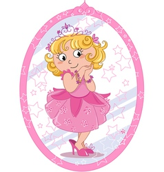 Cute princess vector image vector image