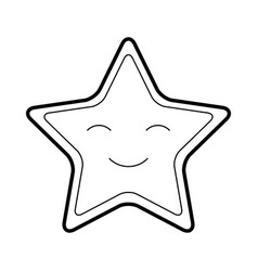 Cute stars kawaii character vector