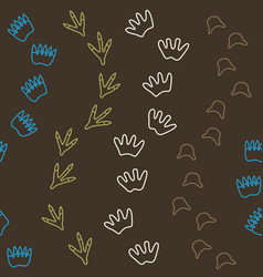 Dino seamless pattern in brown vector