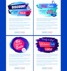 discount new offer big sale winter banner tags set vector image