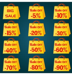 Discount price tag set vector image