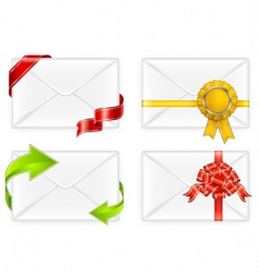 envelopes with bow vector image