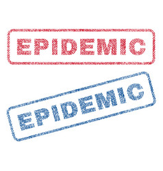Epidemic textile stamps vector