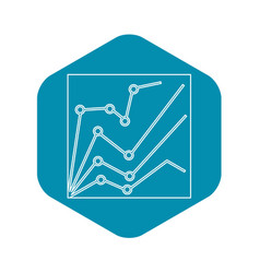 financial statistics icon outline style vector image