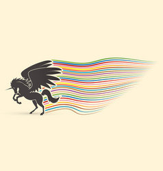 Flying unicorn vector