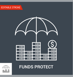 funds protect icon thin line vector image