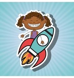 Girl idea happy vector