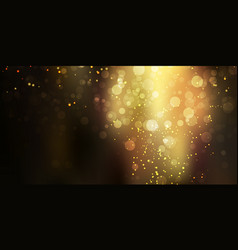 gold glittering sparkle stardust on black vector image