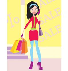 graphic girl vector image