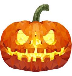 halloween pumpkin low poly vector image