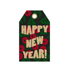 happy new year label with text vector image