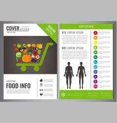 Healthy lifestyle brochure design template vector
