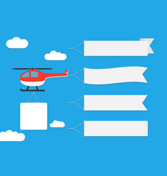 helicopter with banner vector image