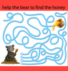 Help the honey bear to find honey vector