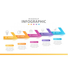 Infographic template for business 5 steps modern vector