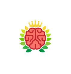 king brain logo vector image