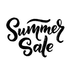 lettering in heart - summer sale marketing header vector image