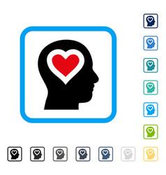 Love in head framed icon vector