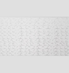 modern white brick wall building element vector image