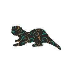 Otter mammal color silhouette animal vector
