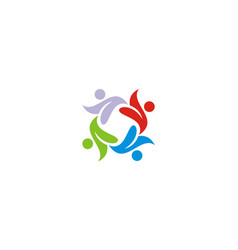 people diversity colored logo vector image