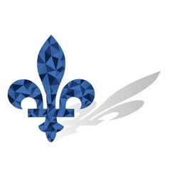 quebec province canada emblem fleur de lys vector image