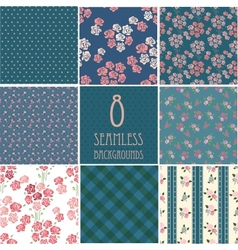 retro backgrounds with roses vector image