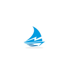 Sailing boat bolt logo vector