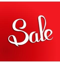 Sale banner template design Simple message card vector
