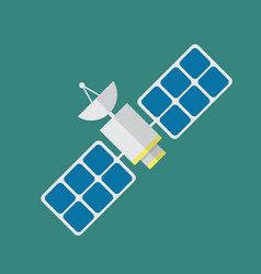 Satellite in flat style vector
