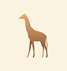 Silhouette of a giraffe giraffe side view vector