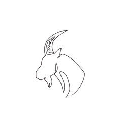 single continuous line drawing strong tough vector image