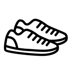 sneakers line icon sport shoes vector image