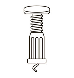 spiral bottle opener icon outline style vector image