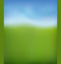 summer background green fresh grass blue sunny vector image