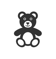 teddy bear plush toy icon business concept bear vector image