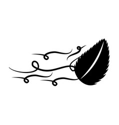 Tree leaf in the wind vector
