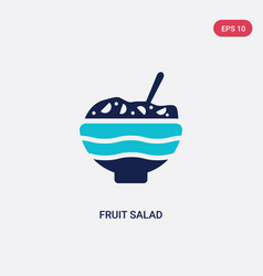 Two color fruit salad icon from food concept vector